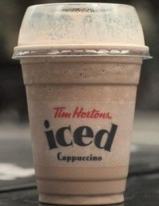 Copycat Tim Horton's Iced Capp recipe - I used 1 tbs instant espresso instead of coffee
