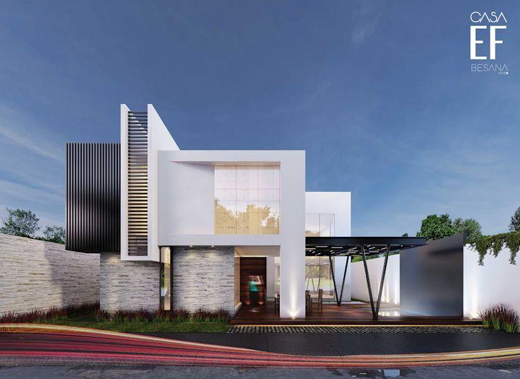 17 mejores ideas sobre fachadas minimalistas en pinterest for Viviendas minimalistas
