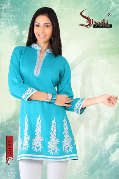COTTON FABRIC KURTI TOP FOR GIRLS by Snehal Creation