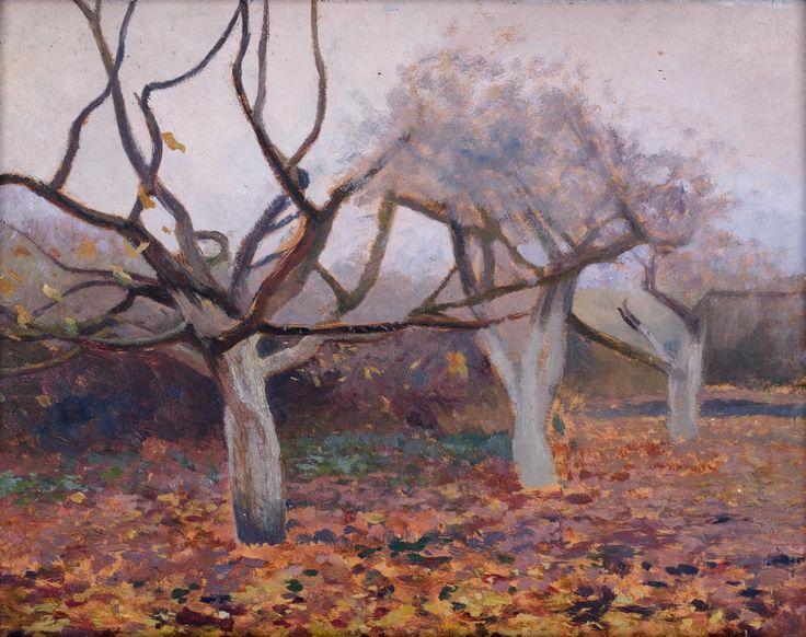 Jan Stanisławski Jesień olej, deska, 21,7 × 30,3 cm