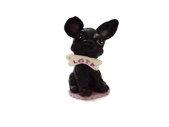 Handsculpted French Bulldog Dog Cake Topper Dog by Kaliopa on Etsy