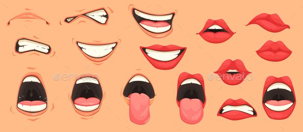 Cartoon Mouth Set Cartoon Mouths Drawing Cartoon Faces Cartoon Smile