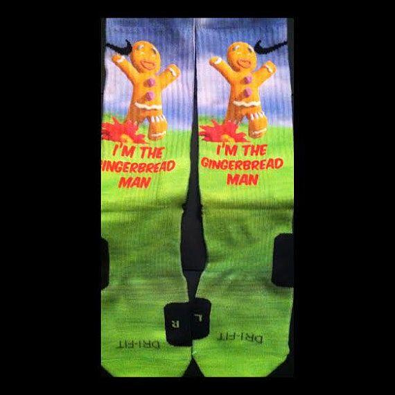 Gingerbread Parody Custom Nike Elite Socks by LuxuryElites on Etsy, $35.99