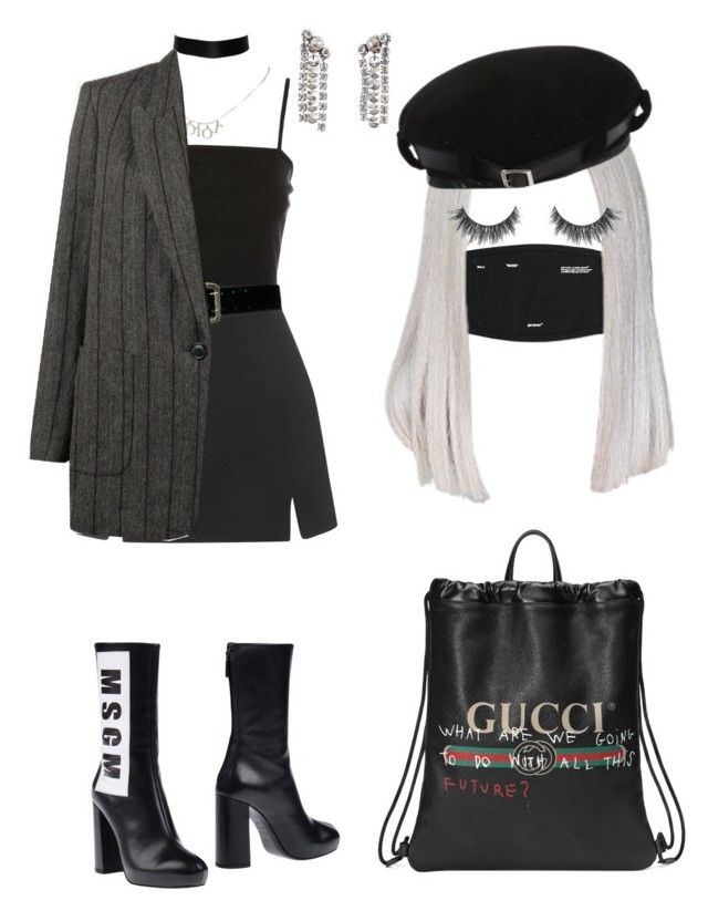 """""""Unbenannt #33"""" by jylidee ❤ liked on Polyvore featuring Topshop, MSGM, Express, Christian Dior, Gucci, Isabel Marant and Lanvin"""