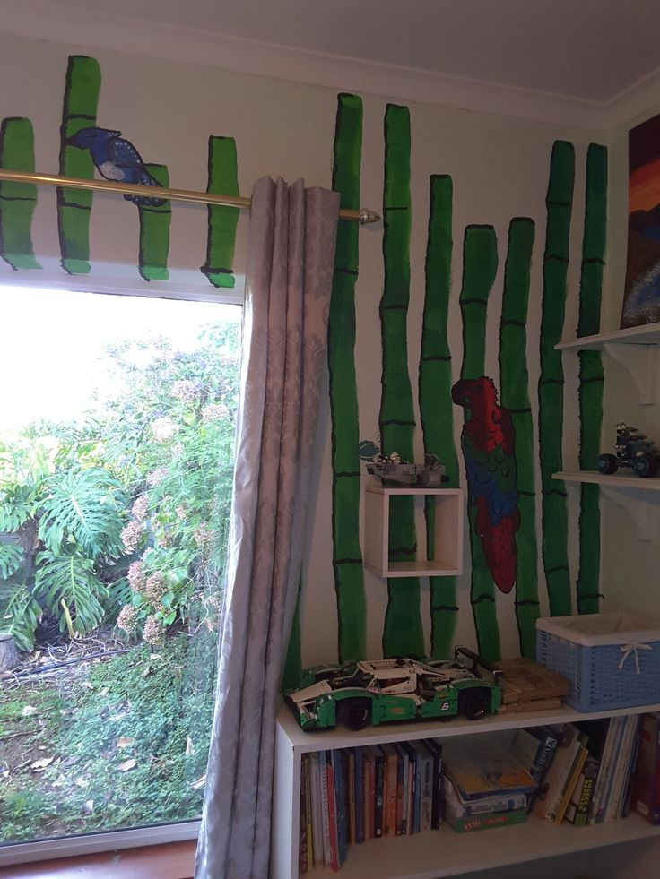 Lian (11) painted his own room wall.
