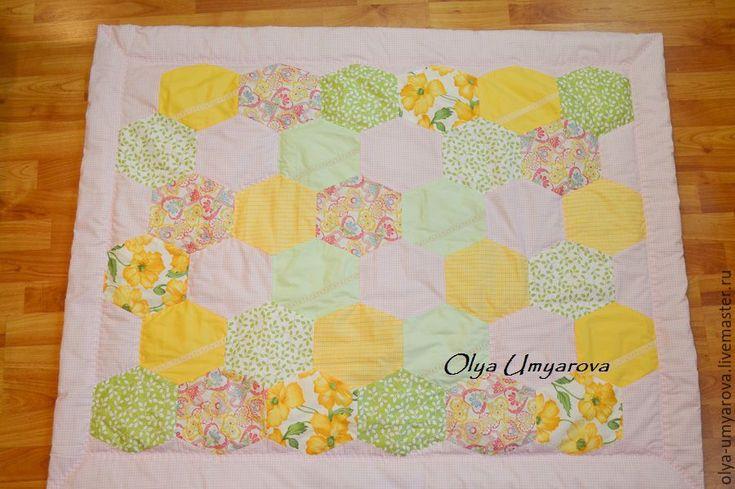 Купить Детское лоскутное одеяло Розовое лето - комбинированный, одеяло, одеяло пэчворк, одеяло детское