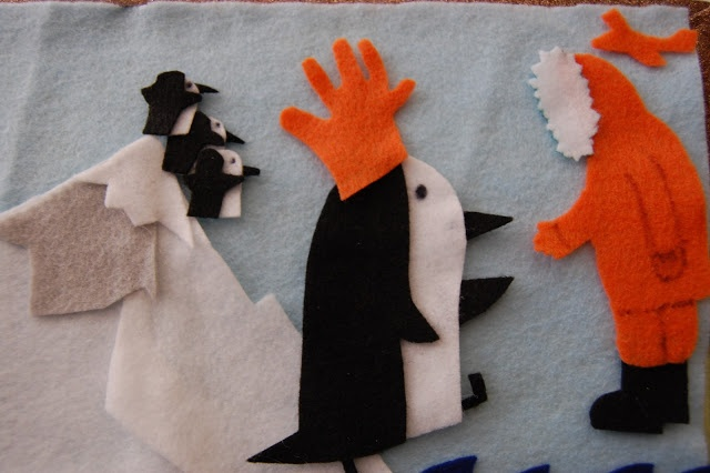 """Sunlit Pages: P is for Penguin preschool activities (flannel board for """"A Penguin Story"""")"""