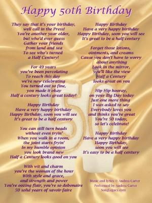 25+ best ideas about 50th Birthday Poems on Pinterest ...