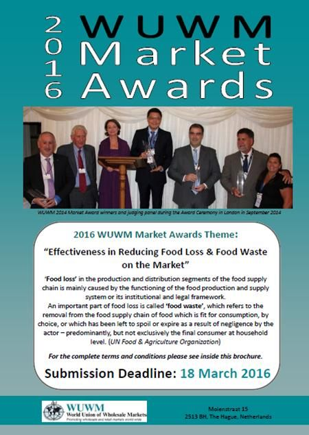 "2016 WUWM Awards brochure Theme ""Effectiveness in Reducing Food Loss & Food Waste on the Market"" #wuwmawards #wuwm #savefood"