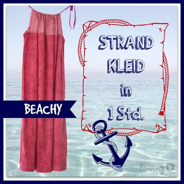 Nähen für Anfänger, einfach nähen, Beachy Strandkleid Tutorial Anleitung, Pillowcase Dress