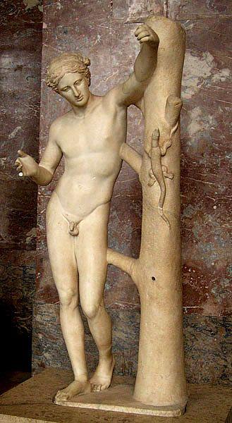 Apollo z jaszczurką (Apollo Sauroctonos), 360 pne.