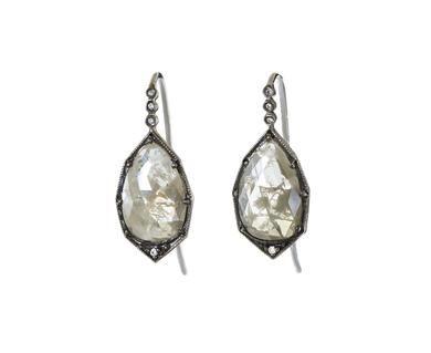 Cathy Waterman - Rose Cut Rustic Diamond Earrings in Designers Cathy Waterman One-of-a-Kind at TWISTonline