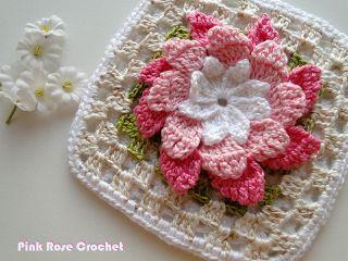 pink rose crochet blog ❥Teresa Restegui http://www.pinterest.com/teretegui/ ❥