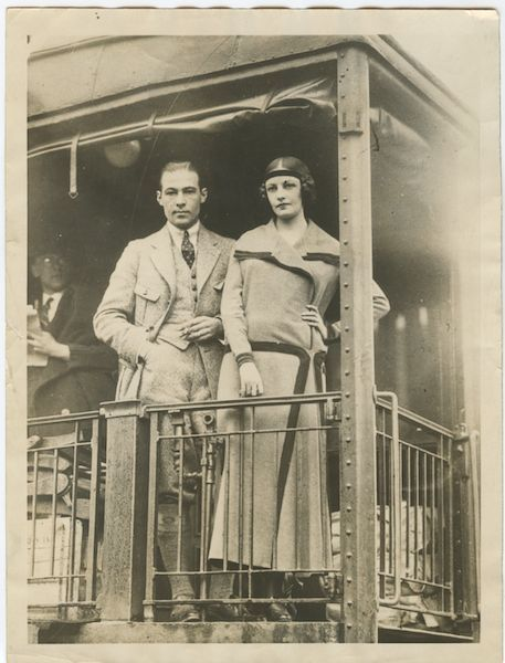Rudolph Valentino & wife, Natacha Rambova, Mineralava dancing tour  1923
