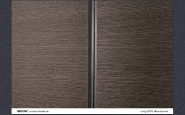 GROOVE - Hinged wardrobe contemporary-closet