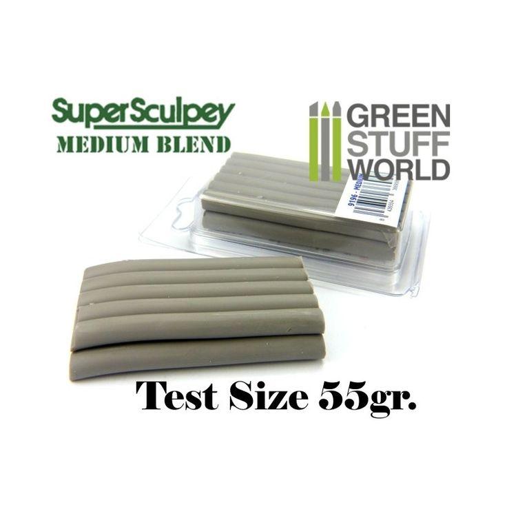 Comprar Arcilla polimérica Super Sculpey Medium Blend. Resina polimérica que necesita ser horneada para endurecer. Formato 55 gr.
