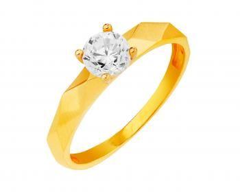 Złoty pierścionek  Apart. Ciekawa forma.