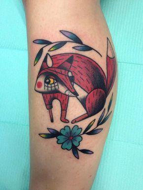 Fox American Traditional #ink #tattoo