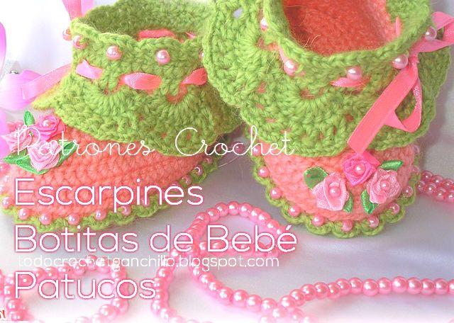 Mejores 270 imágenes de Patucos y zapatillas en Pinterest   Zapatos ...