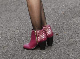 Sammi Jackson - Pink, Burgundy + Black  With @Sleeh Shoes