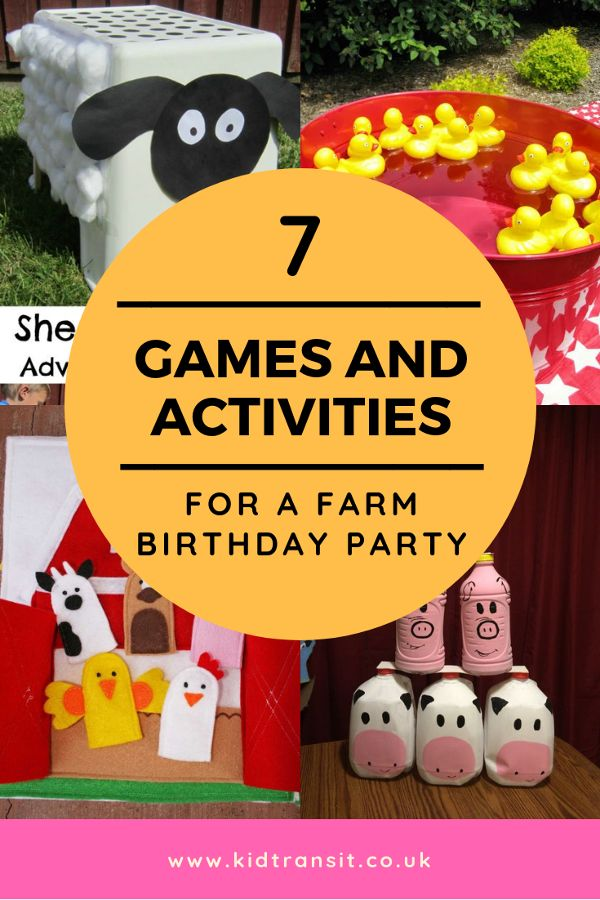 7 games and activities to play at a farm themed first birthday party. Stop the b…