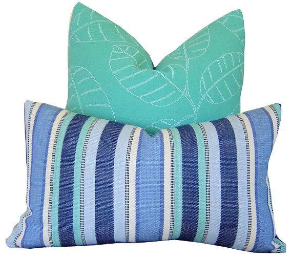 Beach Stripe Decorative Pillows by California Livin Home on Etsy