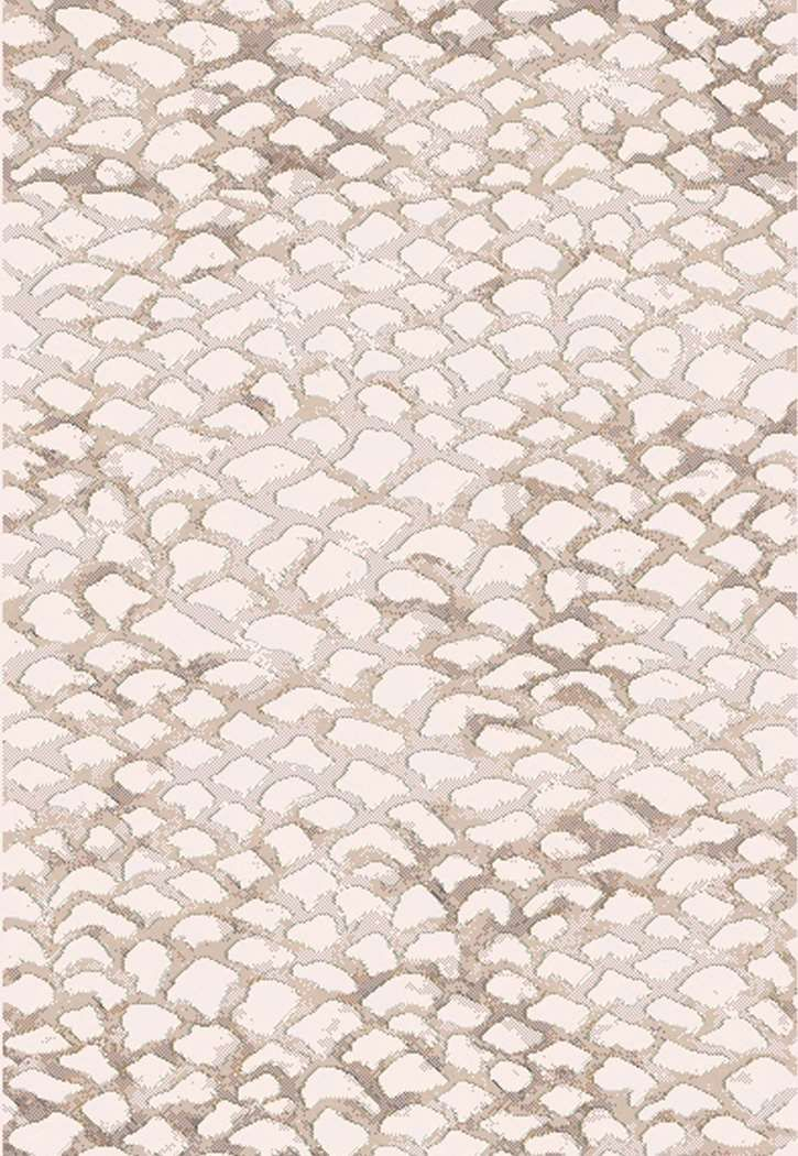 "Dynamic Rugs Eclipse 64194-8565 Ivory 2'7"" Wide Hall and Stair Runner 