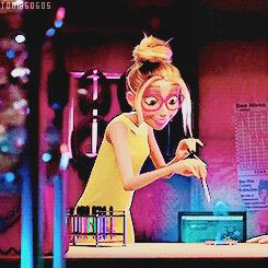 Honey Lemon from Big Hero 6. I love how she's so cute and girlie, but they gave her a bit of a mad scientist vibe.