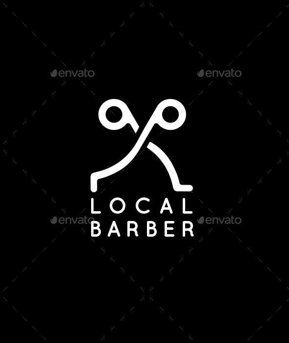 A Trendy Barber Logo Template CDR #logotype Download here: https://graphicriver.net/item/a-trendy-barber-logo/16821806?ref=ksioks