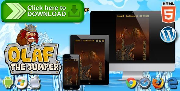 [ThemeForest]Free nulled download Olaf the Jumper - HTML5 Skill Game from http://zippyfile.download/f.php?id=50083 Tags: ecommerce, action game, arcade game, endless game, funny game, html5 jump game, HTML5 tap game, jump game, jumping game, kid game, mr jump, running game, skill game, spring ninja, Tap Game, wordpress