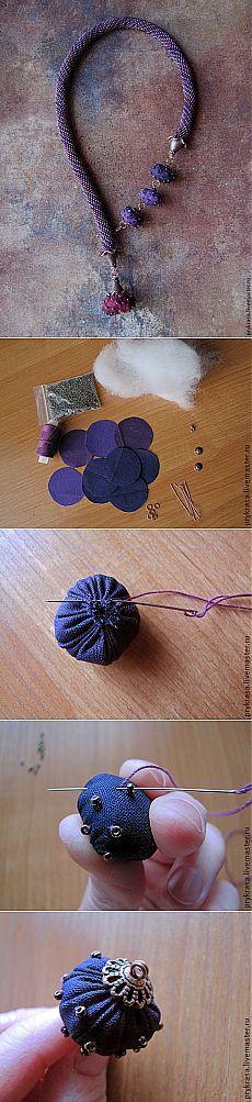 Как сделать текстильные бусины - Ярмарка Мастеров - ручная работа, handmade