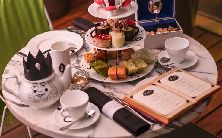 As you take a seat for the Mad Hatter's Afternoon Tea, you'll find your menu tucked into a vintage book,your napkin wrapped with a riddle. The experience is inspired by Lewis Carroll's own Alice in Wonderland.