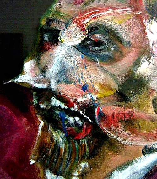 FRANCIS BACON DETAIL Study for a pope III 1961 is to be exhibited in London by the Skarstedt Gallery Oil on canvas Dimensions 152 x 119 cm
