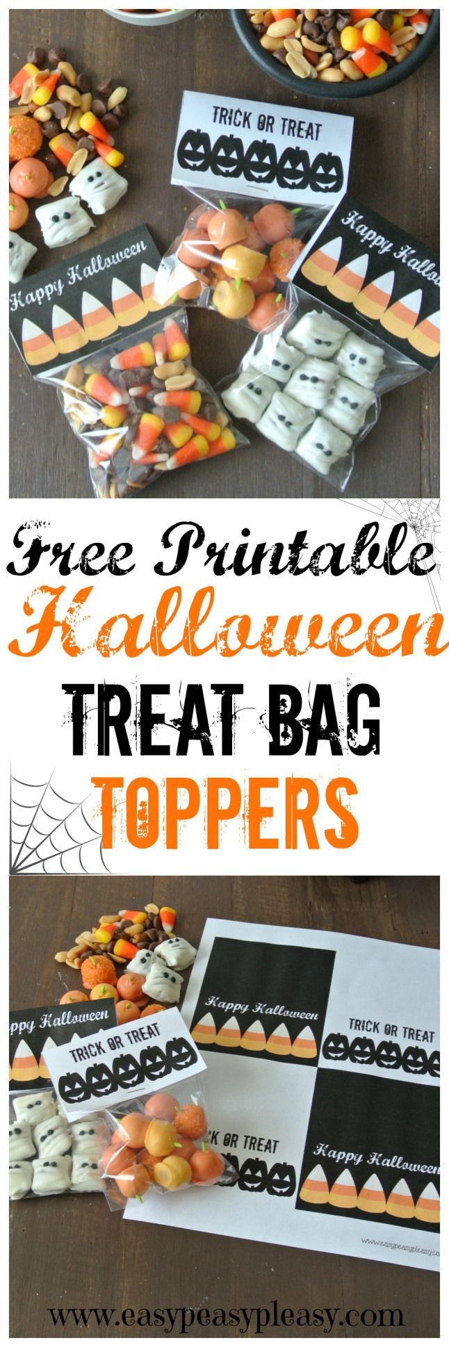 Free Printable Halloween Treat Bag Toppers | Easy Peasy Pleasy