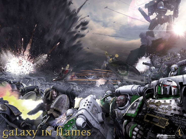 Warhammer 40k, Horus Heresy books.  The most EPIC scale sci-fi books I have ever read.  Gotta check out the first 3 installments.