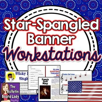 Star Spangled Banner Workstations-Centers for Music Class.  WOW!  Big selection of workstations that will help students learn the history, lyrics and more.  Takes a little setup but would last for years.  WOW!