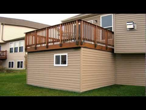 Deck With Shed Underneath Backyard Deck Pinterest