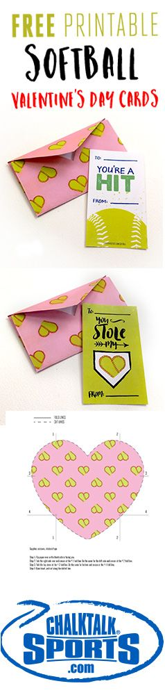 Show your team, or favorite player, some love this Valentine's Day with free printable softball Valentines from ChalkTalkSPORTS.com!