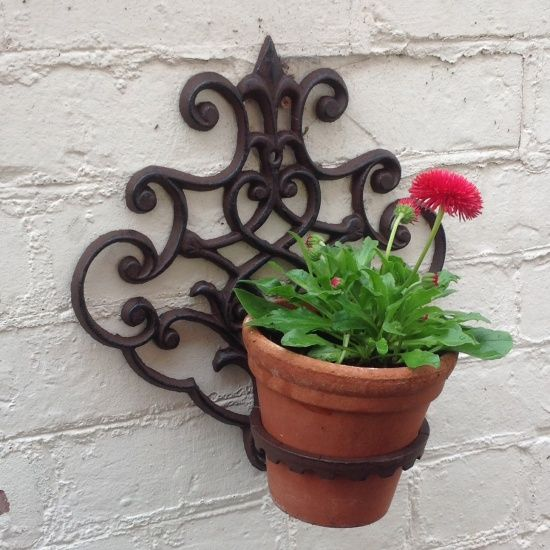 Wall Mounted Plant Pot Holder | Jardín | Pinterest | Plants And Gardens