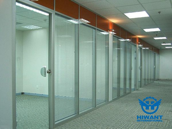Aluminium Profile Glass Partitions For Office