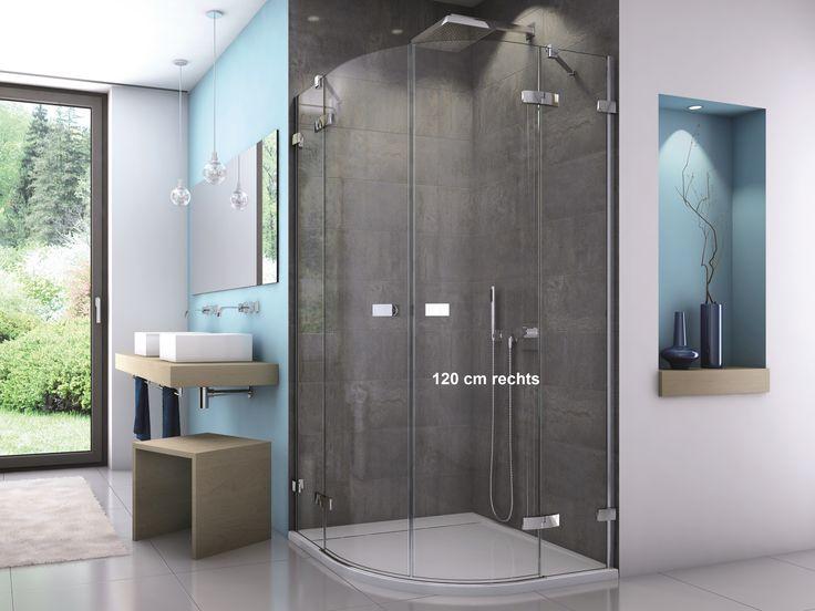 Dusche Viertelkreis - Eckdusche rund, Runddusche Mit einer bodentiefe Runddusche Dusche Viertelkreis eröffnen sich Ihnen viefältige Gestaltungsmöglichkeiten im Bad. Die Runddusche gibt es mit 1 oder 2 Türen. Die Eckdusche rund Runddusche Duschkabine Viertelkreis mit Schiebetür ist auch für den bodenebenen Einstieg für duschen ohne Duschwanne geeignet, aber nicht nur die Dusche Viertelkreis mit Schiebetüren ist dafür geeignet. Mit jeder Eckdusche rund unten rahmenlosen Dusche Viertelkreis…
