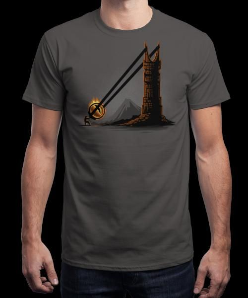 """""""Dark Slingshot"""" is today's £8/€10/$12 tee for 24 hours only on www.Qwertee.com Pin this for a chance to win a FREE TEE this weekend. Follow us on pinterest.com/qwertee for a second! Thanks:)"""