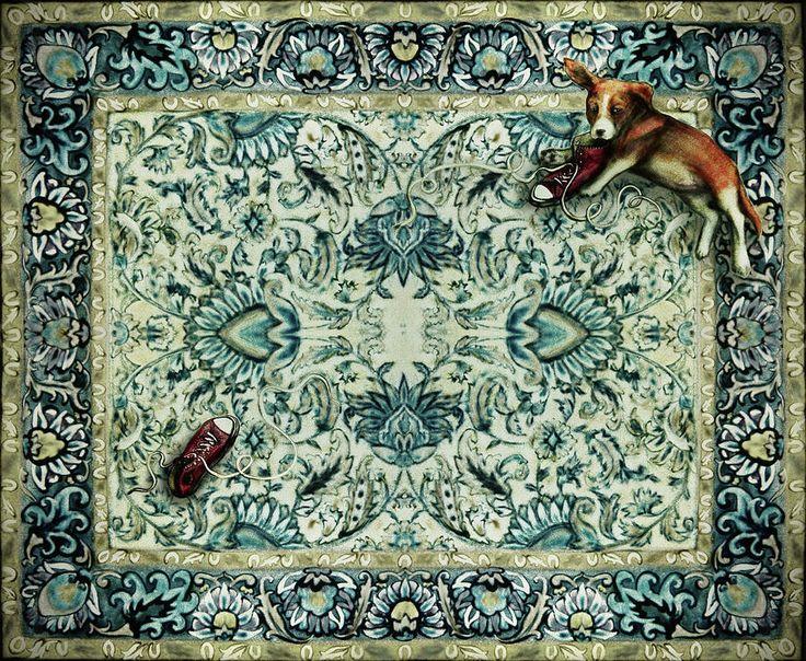 Puppy And Shoes by Elena Vedernikova