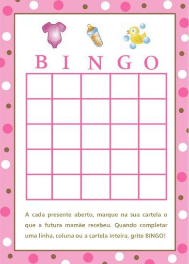 brincadeiras para cha de bebe bingo                                                                                                                                                                                 Mais