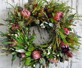 A Passion for Flowers Protea Wreath