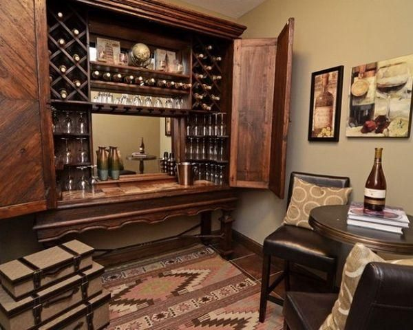Awesome Awesome Home Bar Designs With Wooden Table ~ Http://lovelybuilding.com/