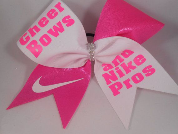 Hot Pink Cheer Bows and Nike Pros Cheer Bow by