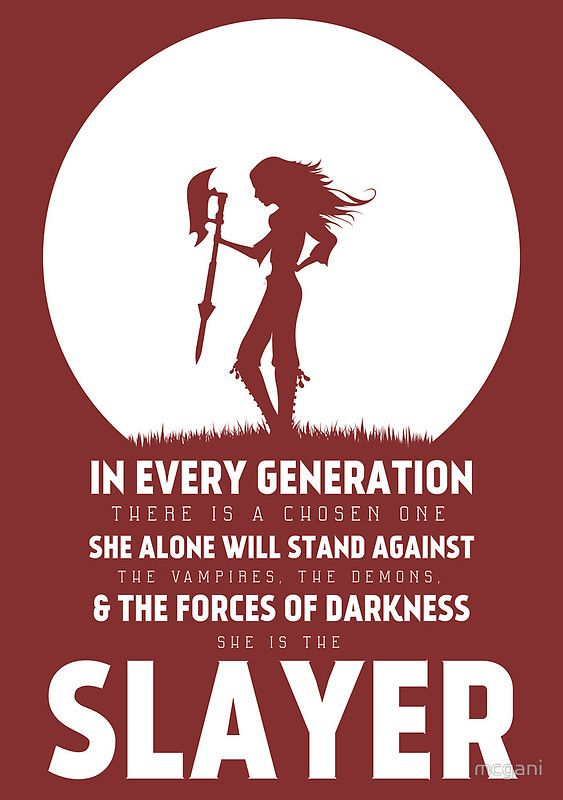 She Is The Slayer by mcgani t-shirt on redbubble