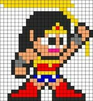 Wonder woman minecraft pixel art template