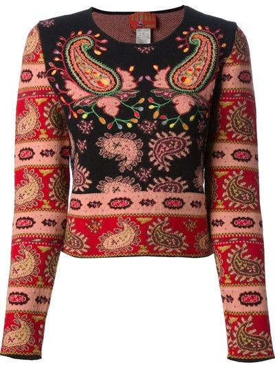 Kenzo Jungle Kenzo embroidered knit sweater